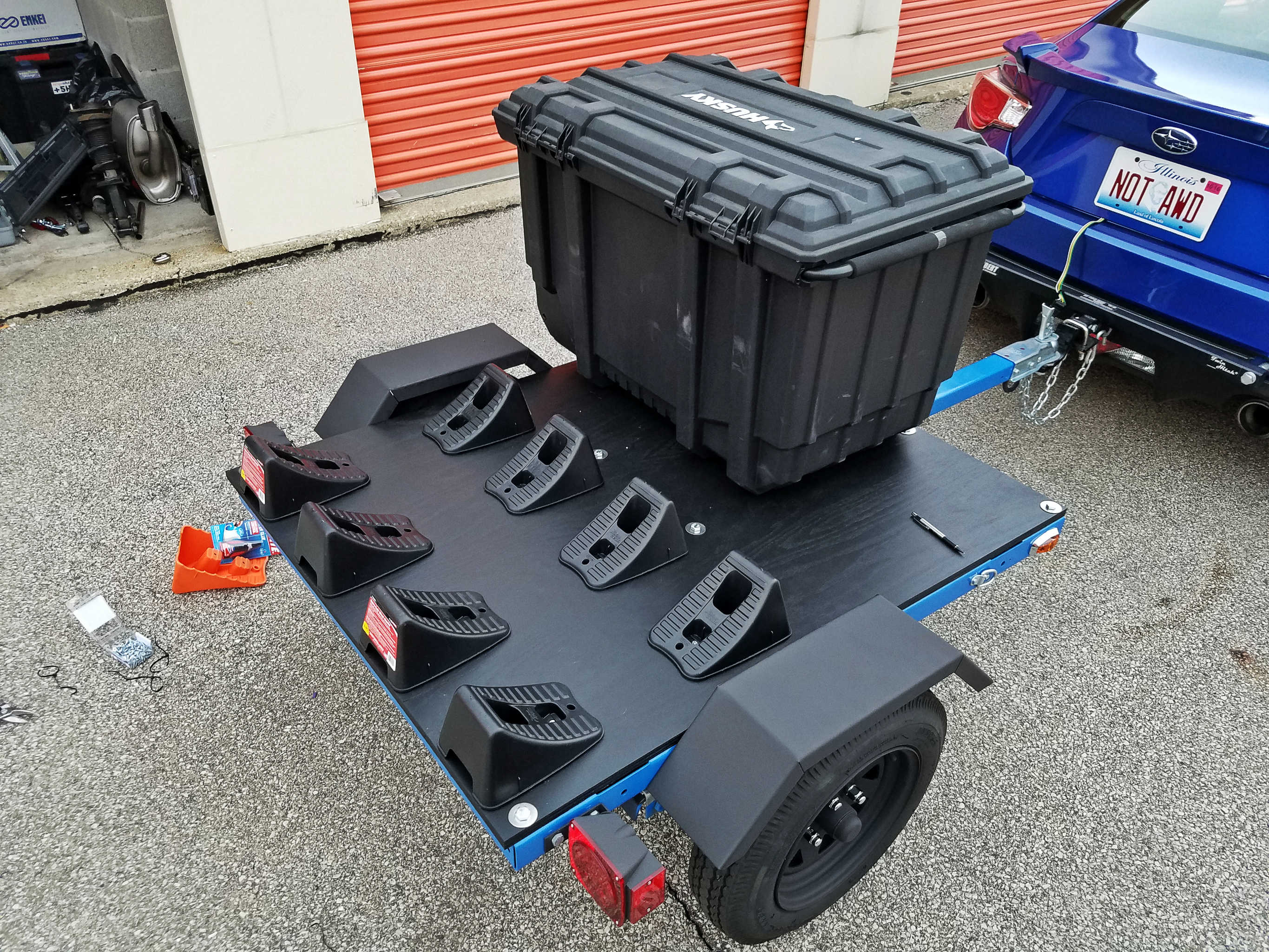 I Built A Tire Trailer Seriesblue Adventures As Well Led Light Kit On Harbor Freight Wiring One