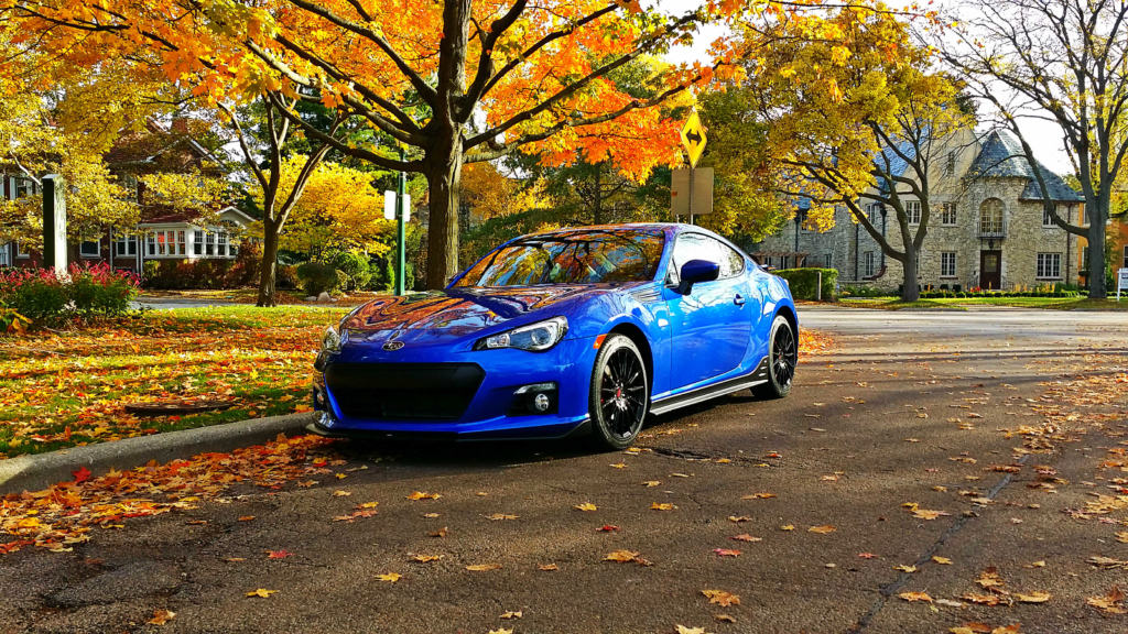 BRZ in the fall in Wilmette Illinois